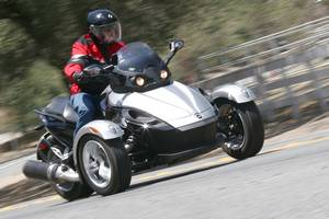 Part motorcycle, part snowmobile, part watercraft, part sports car: The Spyder is a breed apart.