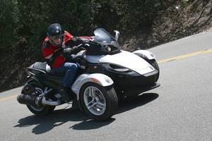Neither a bird nor a plane, nor a bike or a car. It's Can-Am's Spyder.