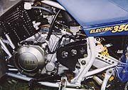 The heart of the beast: a potent 350cc four-stroke
