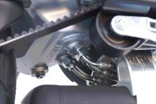 Oil in the swingarm? That's right, and here's the proof. The oil drain plug is also visible.