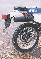 Gracing the rear fender is a little pouch containing the Yamaha tool kit. You could fit a kit of your own inside, as long as it was the size of a Kit Kat. Anything else would probably be too big to fit.