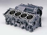The rigid, one-piece aluminum cylinder/crankcase offers superior heat dissipation.