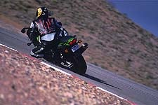 Though the Kawi has the snap coming off the corners, its lack of cornering clearance combined with its girth make twisties a chore.