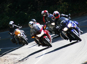 The FJR is easily the fastest bike in this group...