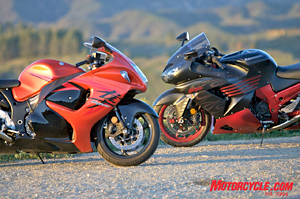 Like a couple of brawling Rottweilers, the Hayabusa and Ninja go head-to-head again in 2008.