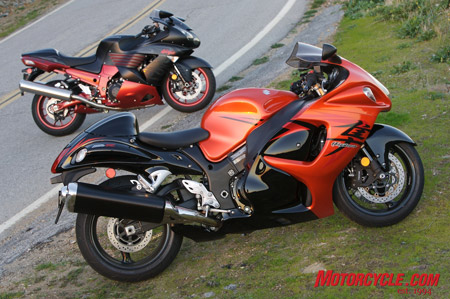 The 2008 Suzuki Hayabusa GSX1300R didn't receive a major styling revision from the first generation bike. Thank goodness, 'cause it looks as good as ever! The 'Busa's style is a major contributor to its nearly decade's worth of success.