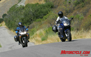 Santa Rosa Creek Road put the suspensions of our 800s to the test.