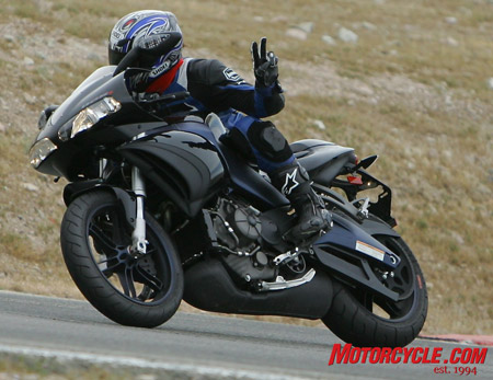We had a couple of nits to pick with the American Buell 1125R, but ride one around long enough and you�ll be at peace with yourself, the bike and the world around you. How bad could things be running around on the first mass-production American sportibke?