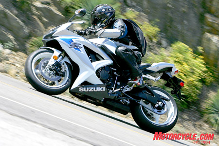Not only did the 2008 GSX-R600 get engine and chassis updates, it also got a new look. Other motorcyclists commented on it every time we parked it somewhere.