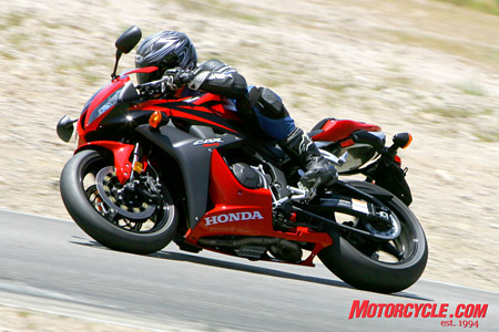 Handling supremacy is a hallmark of the CBR600RR. It scored highest for its light and accurate steering and its confidence-inspiring stability.
