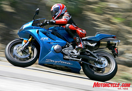 Daytona 675 is its name, and being trés cool is its game. Well, that and performing really good helps.