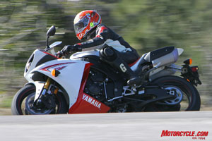 The new Yami's handling isn't as snappy as the others in the test, and it weighs considerably more than the CBR.