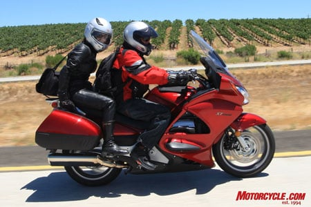 Caroline either really likes motorcycles, or is waaaay too trusting of us. Though she picked the K1300GT as her fave, she would rather go two-up on the back of her husband�s Gixxer Thou. She�s gutsier than most dudes we know.