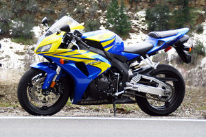 The CBR reminds us of the original Fireblade. Can you get snow tires for it?