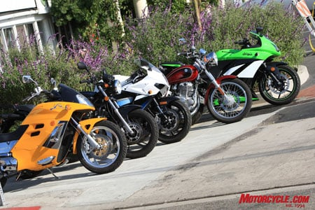 Five options for the 250cc buyer. Some are outstanding examples of what's available today, and some are, well, just examples.