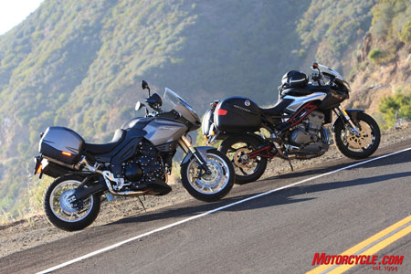 Too close to call? The 2010 Triumph Tiger SE and 2008 Benelli Tre1130K are remarkably well-matched motorcycles.