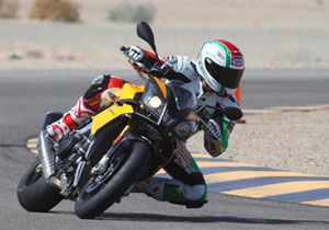 Aprilia Tuono V4R on the Racetrack