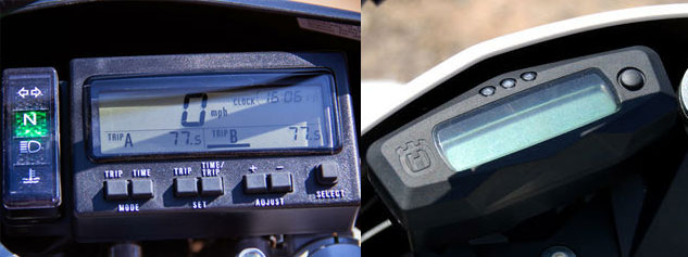 Suzuki DR-Z400 and Husqvarna TE250 Info Displays
