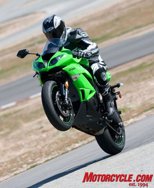 Is the Ninja's celebratory wheelie at the track premature gloating, or will all the things we liked about it on the street be enough to crown the Ninja overall Supersport King?