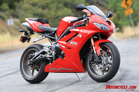 The revitalized-for-2009 Triumph Daytona 675.