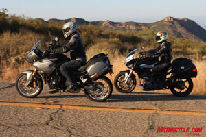"The Triumph and Benelli both toy with the idea of ""adventure"" touring, but are much better suited for on-road only adventures."