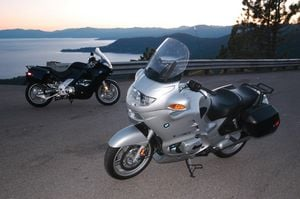 The BMWs enjoy a hoity toity sunset tour of Lake Tahoe, while the rest of the bikes hang out in a Reno dive bar.