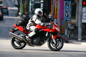 The Suzuki works well on city streets, but lacks the comfort of the Ninja.