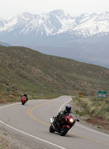 The `Busa was a bit ahead on the twisty roads...