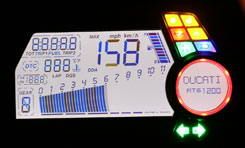 The Multi�s large, comprehensive LCD instrument panel is intense!
