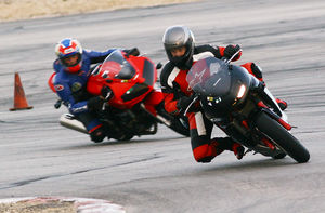 With a decent rider on board, the Ninja can keep ahead of most of the buffoons you meet at trackdays.