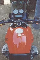 The Beemer's cockpit was roomy and comfortable, featuring wider handlebars than the Tiger.
