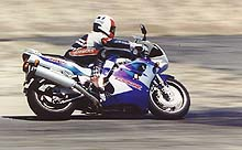 Chuck Graves has considerable experience racing GSXRs, so we weren't surprised when he turned smoking laps on the 1100.