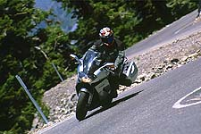 Over the twistiest bits of road, the Futura was able to keep pace with the lighter, more agile Ducati thanks to its ability to feel more planted mid-corner.
