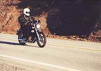 Cruising in the sun through the canyons of Malibu. Sigh. The Virago knows its purpose.