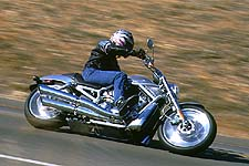 The V-Rod. Harley's freshest design in -- well, perhaps ever, a smoking hot bike, full of firepower, sex appeal ... and we still managed to place it second, by one point. Thank you, Calvin. Oh, and it only gets one photo in the main story. Did we do it just to piss you off? Ah, the mystery ....
