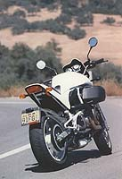 An S3 gas tank and 2.0 inch narrower bars give the White Lightning its distinctive looks.