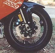 Like its YZF600 sibling, the 1000 has extremely powerful brakes.
