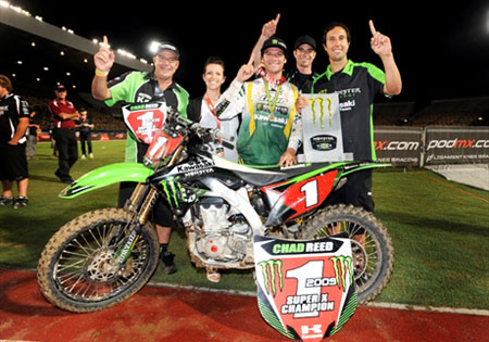 With his third team in as many years, Chad Reed will again be a contender, this time with Kawasaki.