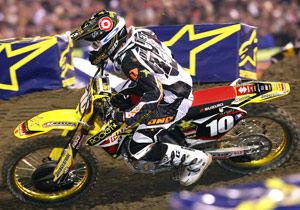 Ryan Dungey reached the podium in Anaheim in his first and only AMA Supercross race in ONE gear.