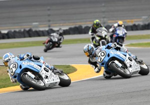 Geoff May (left) and Aaron Yates will race in the 2009 AMA American Superbike class.