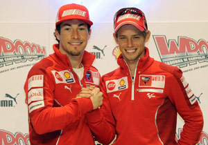 With Nicky Hayden and Casey Stoner, Ducati Marlboro will field the 2006 and 2008 MotoGP champions this season.
