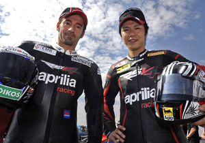 Aprilia's Max Biaggi and Shinya Nakano will be one of the new factory teams competing in 2009.