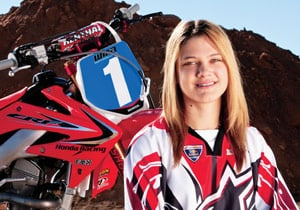 Factory Honda Red Bull racer Ashley Fiolek will defend her Women's MX title.