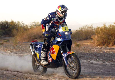 Cyril Despres won his third Dakar Rally by over an hour. Photo by J. van Oers