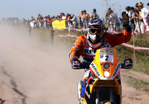 Marc Coma left the competition in his dust, winning the 2009 Dakar Rally by 1:25:38.