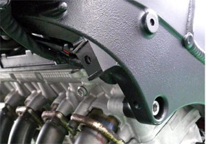 Suzuki dealers will examine this portion of the 2005-2006 GSX-R1000's frame for signs of damage.