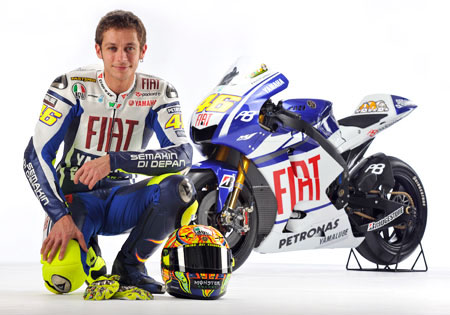 Valentino Rossi is ready to defend his MotoGP crown.