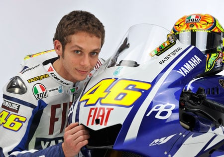 Valentino Rossi was the fastest in the first day of testing in Malaysia.