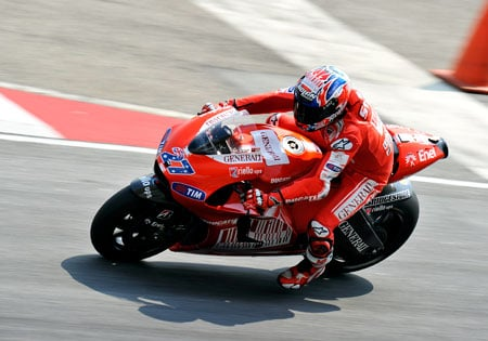 Casey Stoner showed little sign of the ailments that kept him out of several races in 2009.
