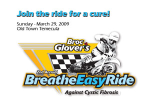 The second annual Breathe Easy Ride will take place March 29 in Temecula, Calif.